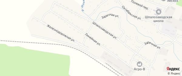Линейная улица на карте села Новоильинска с номерами домов