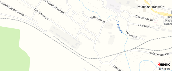 Заводская улица на карте села Новоильинска с номерами домов