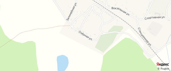 Озерная улица на карте села Новоильинска с номерами домов