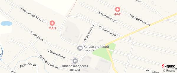 Дорожная улица на карте села Новоильинска с номерами домов