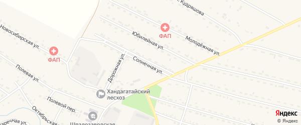 Солнечная улица на карте села Новоильинска с номерами домов