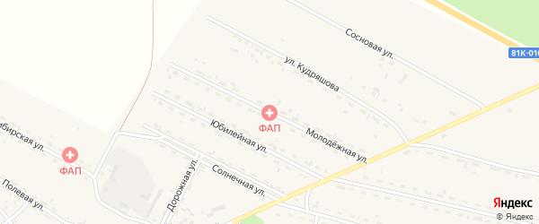 Молодежная улица на карте села Новоильинска с номерами домов