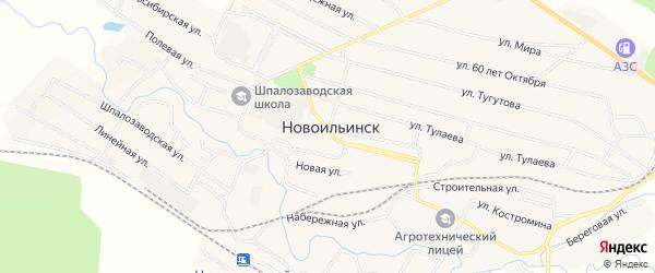 Карта села Новоильинска в Бурятии с улицами и номерами домов
