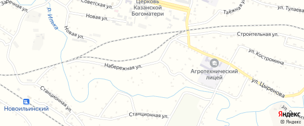 Набережная улица на карте поселка Челутай с номерами домов