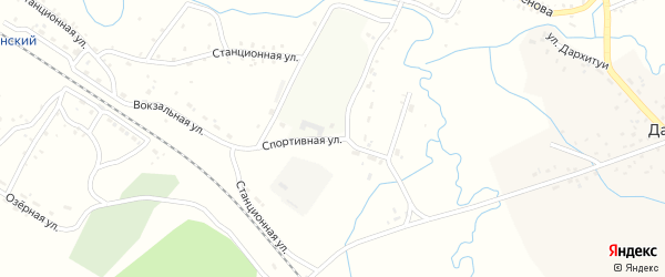 Спортивная улица на карте села Новоильинска с номерами домов
