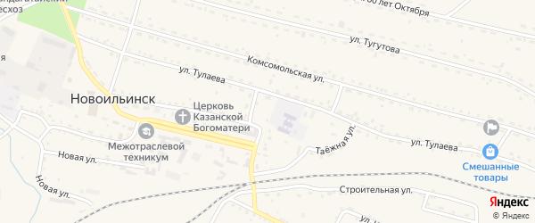 Вокзальная улица на карте села Новоильинска с номерами домов