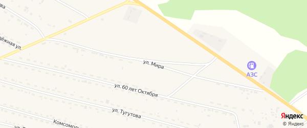 Улица Мира на карте села Новоильинска с номерами домов