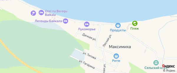 Дачная улица на карте села Максимихи с номерами домов