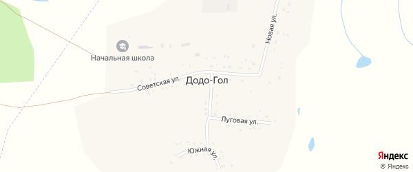 Центральный переулок на карте улуса Додо-Гол с номерами домов