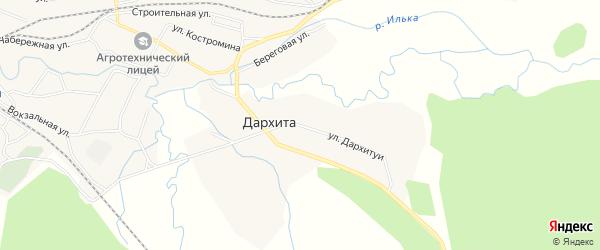 Карта улуса Дархита в Бурятии с улицами и номерами домов