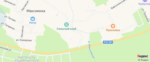 Клубная улица на карте села Максимихи с номерами домов