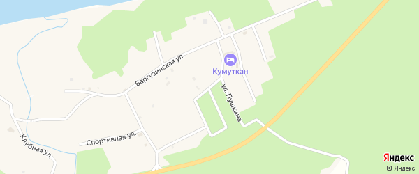 Зеленая улица на карте села Максимихи с номерами домов