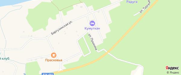 Улица Пушкина на карте села Максимихи с номерами домов