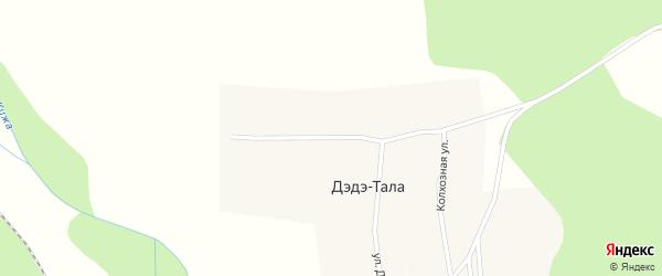 Улица Дружбы на карте улуса Дэдэ-Тала с номерами домов