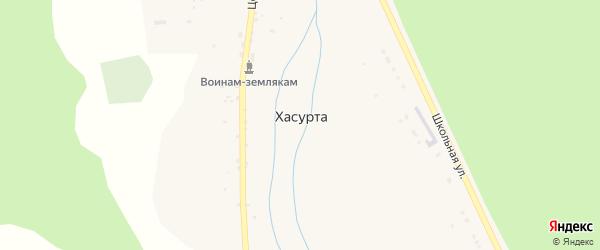 Ключевская улица на карте села Хасурты с номерами домов