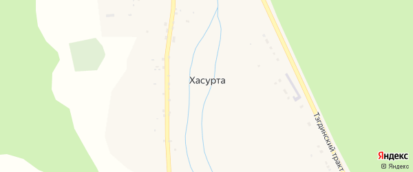 Центральная улица на карте села Хасурты с номерами домов
