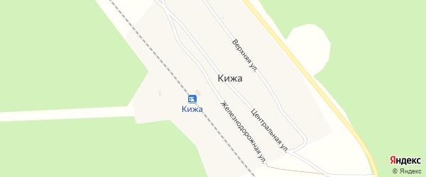 Железнодорожная улица на карте станции Кижа с номерами домов