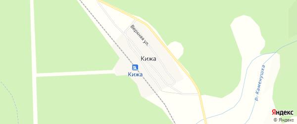 Карта станции Кижа в Бурятии с улицами и номерами домов