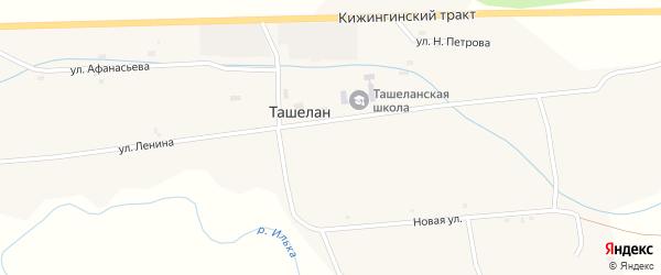 Улица Буса Аброшино на карте села Ташелана с номерами домов