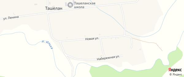 Новая улица на карте села Ташелана с номерами домов