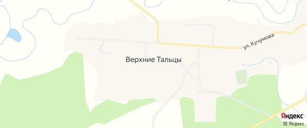 Местность Эрий на карте села Верхние Тальцы с номерами домов