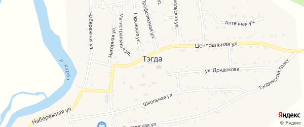 Центральная улица на карте улуса Тэгда с номерами домов
