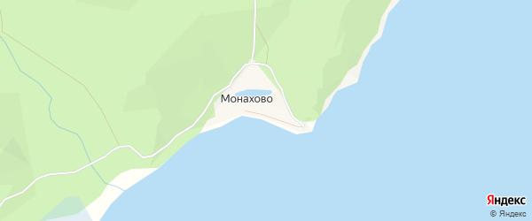 Карта поселка Монахово в Бурятии с улицами и номерами домов