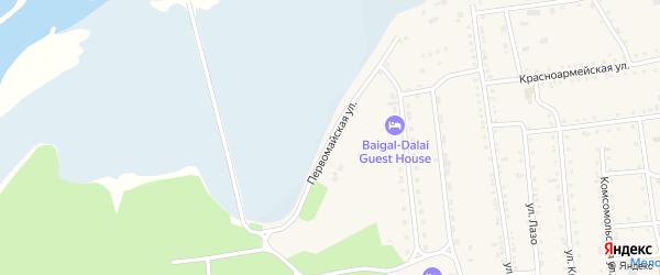 Первомайская улица на карте поселка Усть-баргузина с номерами домов