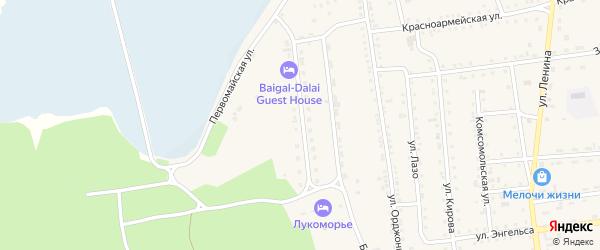 Байкальская улица на карте поселка Усть-баргузина с номерами домов