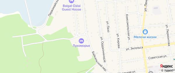 Байкальский переулок на карте поселка Усть-баргузина с номерами домов