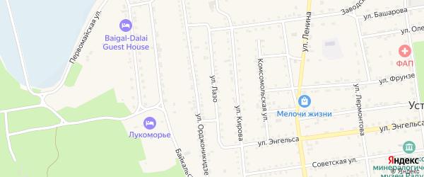 Улица Лазо на карте поселка Усть-баргузина с номерами домов