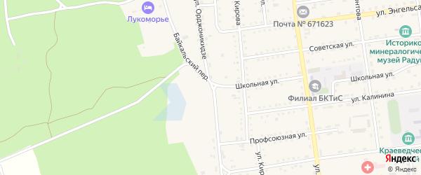 Улица Орджоникидзе на карте поселка Усть-баргузина с номерами домов