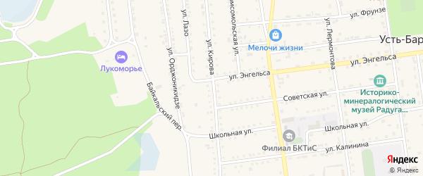 Улица Кирова на карте поселка Усть-баргузина с номерами домов