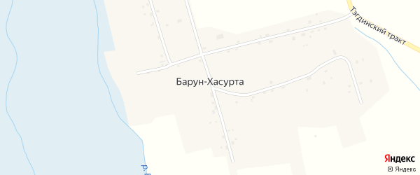 Центральная улица на карте улуса Барун-Хасурта с номерами домов