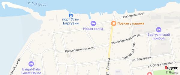 Улица Некрасова на карте поселка Усть-баргузина с номерами домов
