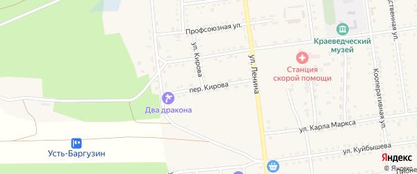Переулок Кирова на карте поселка Усть-баргузина с номерами домов