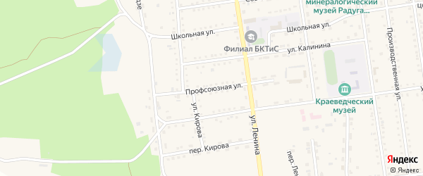 Профсоюзная улица на карте поселка Усть-баргузина с номерами домов