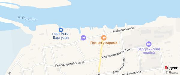 Набережная улица на карте поселка Усть-баргузина с номерами домов