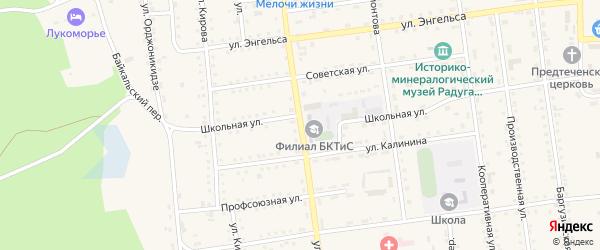Улица Ленина на карте поселка Усть-баргузина с номерами домов