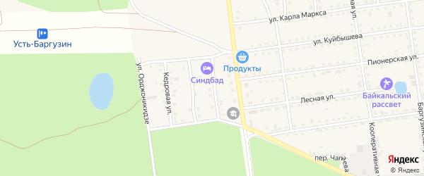 Сосновая улица на карте поселка Усть-баргузина с номерами домов