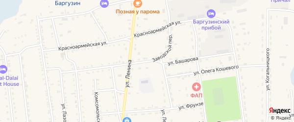 Улица Башарова на карте поселка Усть-баргузина с номерами домов