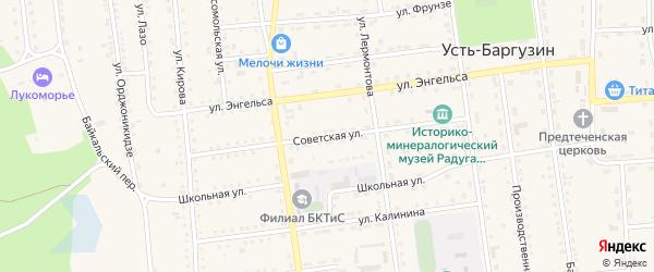 Советская улица на карте поселка Усть-баргузина с номерами домов