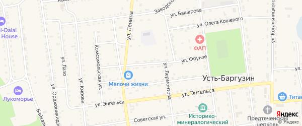 Улица Фрунзе на карте поселка Усть-баргузина с номерами домов