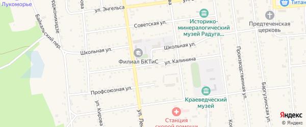 Улица Калинина на карте поселка Усть-баргузина с номерами домов