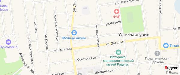 Партизанская улица на карте поселка Усть-баргузина с номерами домов