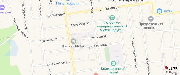 Школьная улица на карте поселка Усть-баргузина с номерами домов