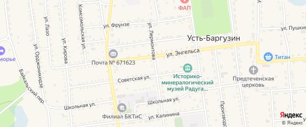 Улица Лермонтова на карте поселка Усть-баргузина с номерами домов