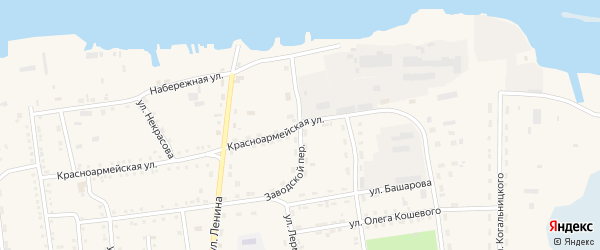 Заводской переулок на карте поселка Усть-баргузина с номерами домов