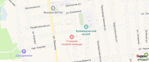 Улица Оцимика на карте поселка Усть-баргузина с номерами домов