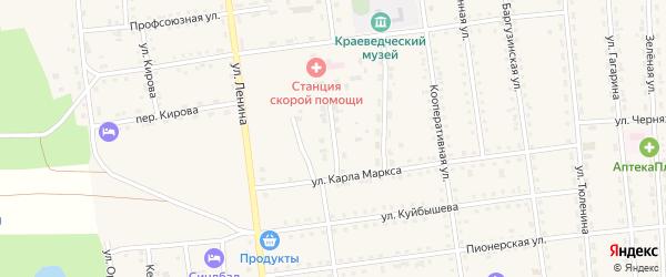 Переулок Карла Маркса на карте поселка Усть-баргузина с номерами домов